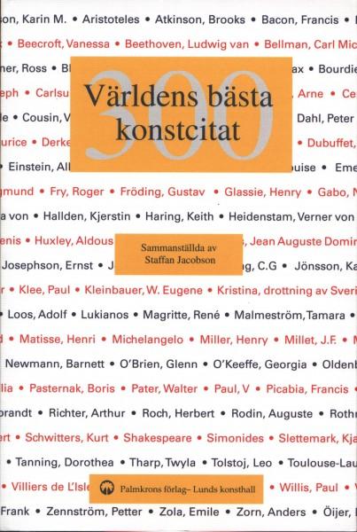 300 världens bästa konstcitat (omslag, framsida)