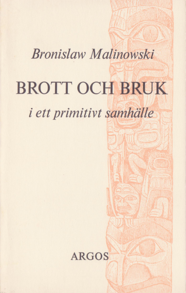 Brott och bruk i ett primitivt samhälle (omslag, framsida)