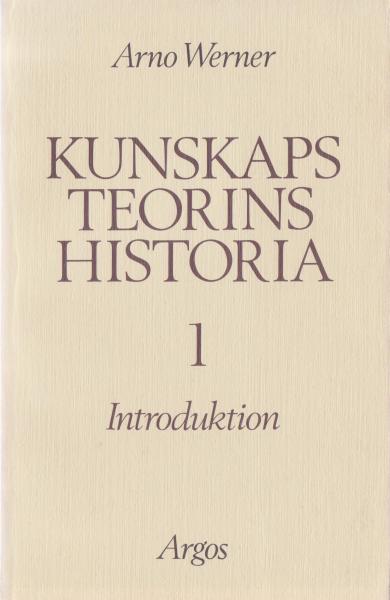 Kunskapsteorins historia 1 (omslag, framsida)