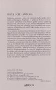 Språk och handling (omslag, baksida)